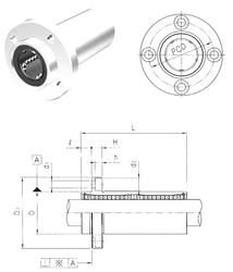 85 mm x 110 mm x 13 mm D Samick LMFP13LUU Linear Bearings