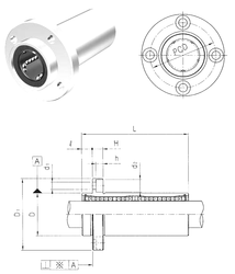 49 mm x 160 mm x 67,4 mm Bore Diameter (mm) Samick LMFP8L Linear Bearings
