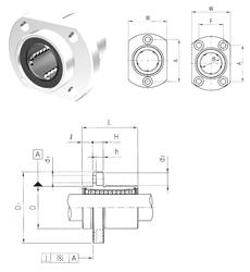 380 mm x 560 mm x 135 mm Size (mm) Samick LMHP6 Linear Bearings
