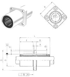 49 mm x 160 mm x 67,4 mm D Samick LMKM12 Linear Bearings