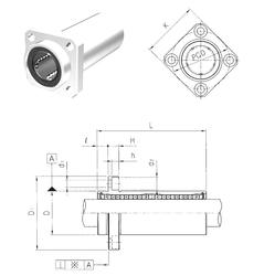 Outer Diameter (mm) Samick LMKP20L Linear Bearings