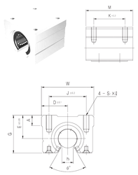 Brand Samick SBR30UU Linear Bearings