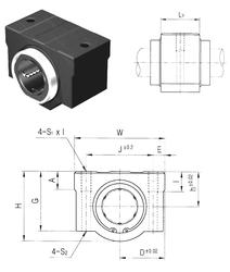 180 mm x 320 mm x 86 mm r min. Samick SC12VNUU Linear Bearings