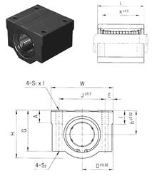 400 mm x 500 mm x 46 mm C Samick SC13-B Linear Bearings