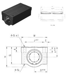 101,6 mm x 161,925 mm x 36,116 mm a Samick SC30W-B Linear Bearings