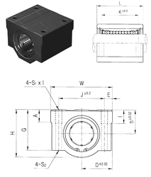 S Samick SCE20UU Linear Bearings