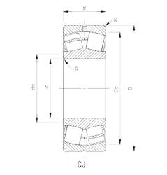 23,812 mm x 50,8 mm x 14,26 mm r Timken 22236CJ Spherical Roller Bearings