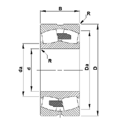 110 mm x 240 mm x 50 mm Basic dynamic load rating – C Timken 24088YMB Spherical Roller Bearings