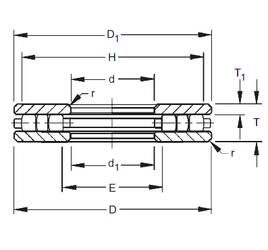 105 mm x 160 mm x 41 mm Size (mm) Timken 30TP109 Thrust Roller Bearings
