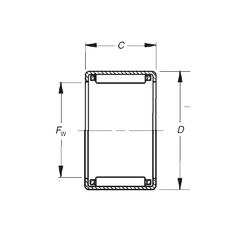 Basic dynamic load rating (C) Timken J-2016 Needle Roller Bearings