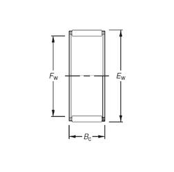 25 mm x 52 mm x 15 mm r min. Timken K44X50X22 Needle Roller Bearings