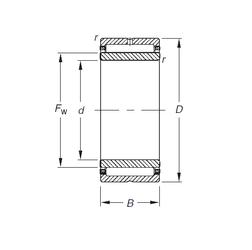 Calculation factor (e) Timken NA4914 Needle Roller Bearings