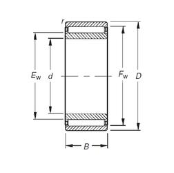 30 mm x 62 mm x 16 mm Bore Diameter (mm) Timken NAO50X78X20 Needle Roller Bearings
