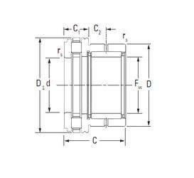 44,983 mm x 82,931 mm x 25,4 mm r min. Timken NAXR15 Complex Bearings