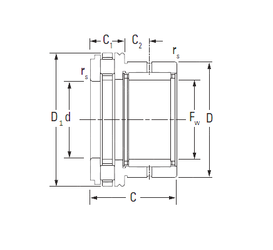 43 mm x 82 mm x 45 mm Size (mm) Timken NAXR17 Complex Bearings