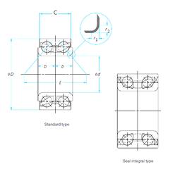 28 mm x 52 mm x 16 mm d Timken WB000008 Angular Contact Ball Bearings