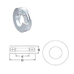 Bearing number ZEN S51200 Thrust Ball Bearings